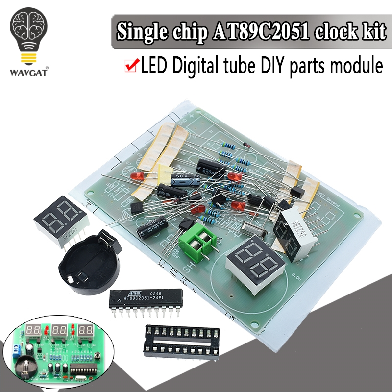 AT89C2051 electronic Clock Digital Tube LED Display Suite Module Parts