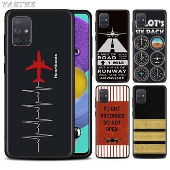 Avión volar de piloto de avión caja del teléfono para Samsung Galaxy A51 A71 5G A50 A70 A10 A10s A20 A30 A40 A31 A41 A7 2018 cubierta|Fundas antigolpes para teléfono|   -