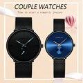 CRRJU Liebhaber Uhren für Männer und Frauen Mode Kleid Armbanduhr Wasserdicht Datum Uhr Paar Uhr Geschenke Set für Verkauf