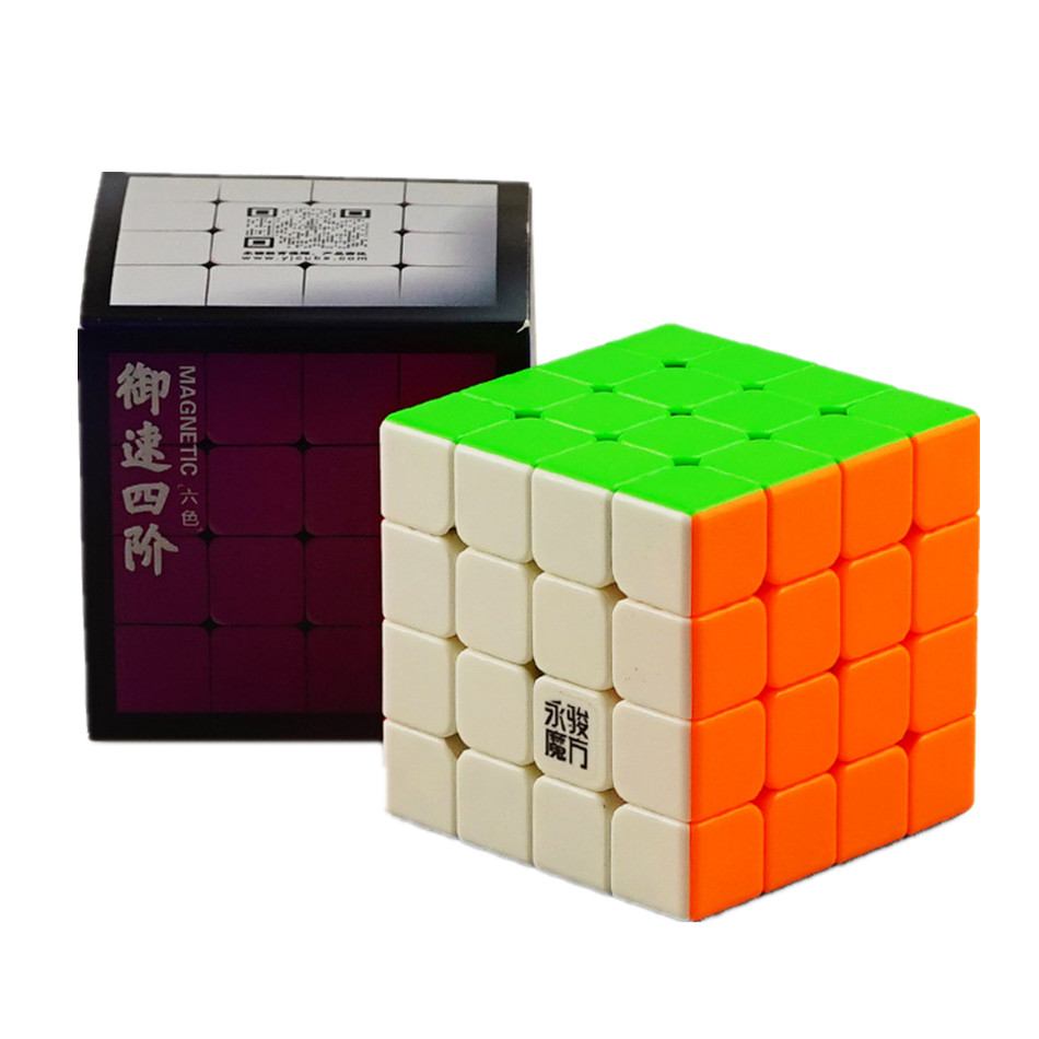Original YJ YuSu M 4x4x4 Magnetic Cube 4*4*4 Magic Puzzle Cube Yongjun Professional 4x4 Magnetic Speed Cube Educational Toys