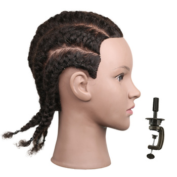 Hairdresser Mannequin Head Hair Training Heads Black Mannequin Head With Human Hair Doll Mannequin Female Wig Head For Sale practice braiding mannequin head with hair black training head hair doll head mannequins for sale hairdressing head female