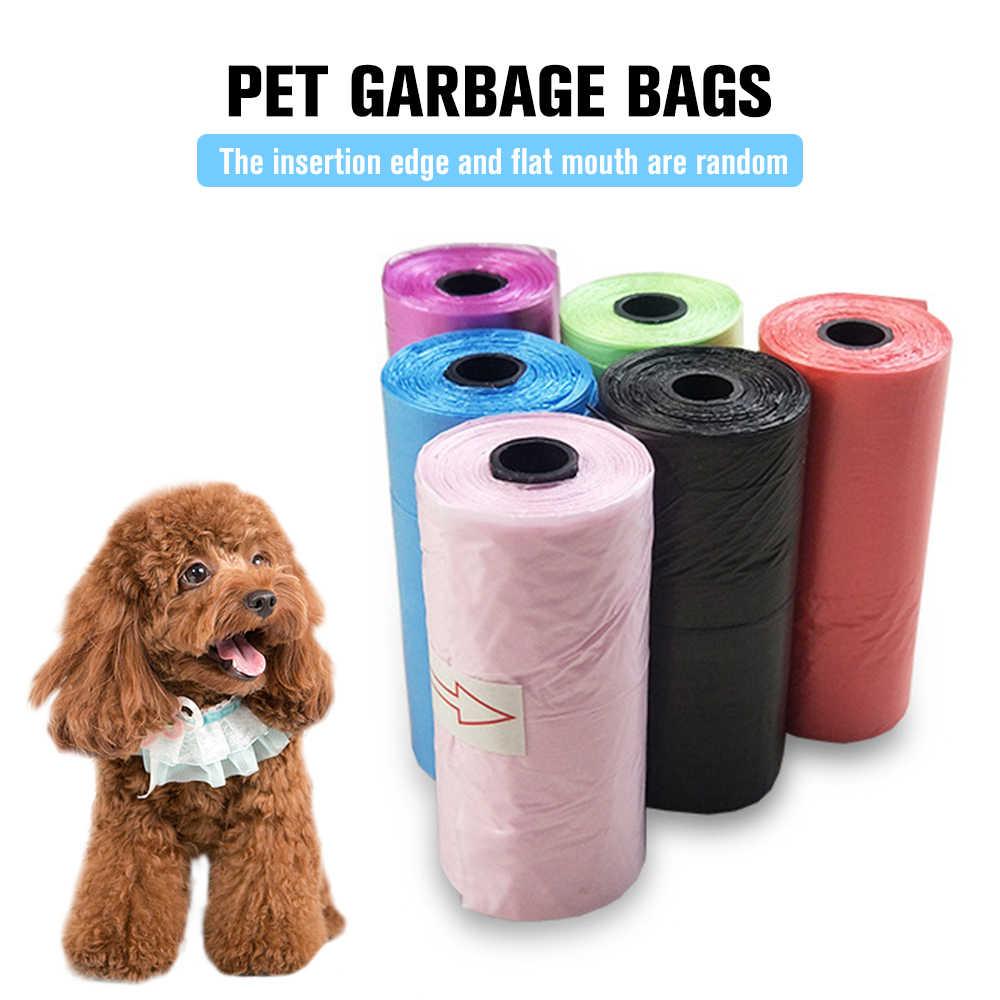 Sacs de merde pour animaux de compagnie chien chat nettoyer recharge sac à ordures sacs en plein air maison propre recharge sac à ordures 15 pièces/roll