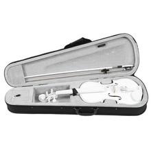 Student Violin 4/4 Full Size Violin Violin Set Child Beginner White Violin i brüll violin sonata no 4 op 97