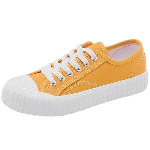 Image 5 - אופנה נשים של לגפר נעלי בד נעלי נשים לנשימה דירות שרוך גופר ספורט נעליים לנשים צבע סניקרס