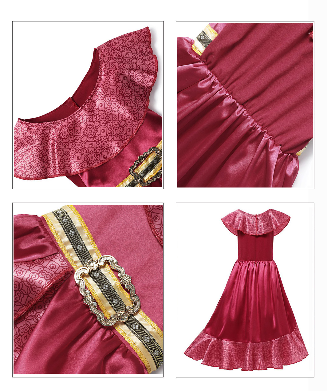 H81d1300641f8455483a9a5ace15cb424B - Fancy Baby Girl Princess Clothes Kid Jasmine Rapunzel Aurora Belle Ariel Cosplay Costume Child Elsa Anna Elena Sofia Party Dress