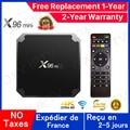 Лучшая приставка Iptv x96 Android 9,0 Tv Box 1 ГБ 8 ГБ 2 Гб 16 Гб Смарт ТВ Медиаплеер x96 телеприставка Доставка из Франции