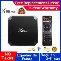 Miglior Iptv Box x96 Android 9.0 Tv box 1G 8G 2G 16G smart tv media player x96 Set Top Box nave dalla francia