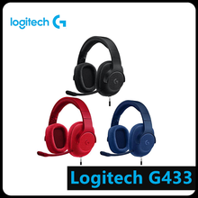 Logitech G433 Wired Headphone X 7.1 Surround Gaming Headset for PC PS4 Xbox Computer Peripheral Accessories logitech g433 wired headphone x 7 1 surround gaming headset for pc ps4 xbox computer peripheral accessories