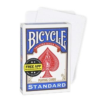 Rowerowe podwójne puste karty do gry Gaff Deck magiczne karty Poker rozmiar specjalne magiczne rekwizyty magiczne sztuczki dla maga tanie i dobre opinie Bicycle Z nami (pochodzenie) 8 lat 120 minut Nieograniczony Zaawansowane Bicycle Double Blank Playing Cards Reklama pokera