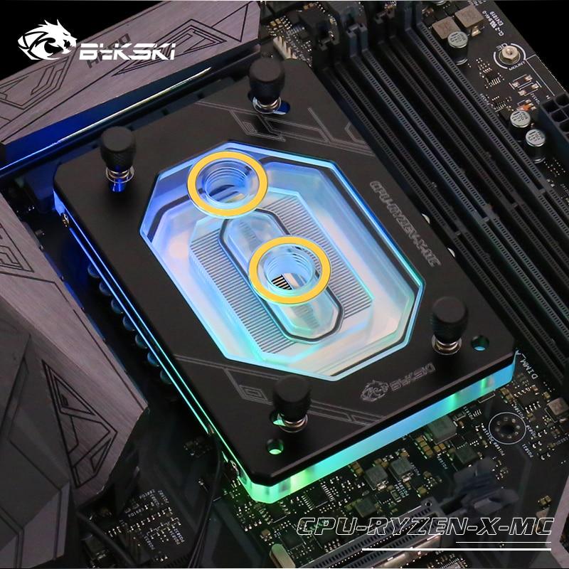 Bykski For RYZEN3000 RyzenAM3/AM3+/AM4 1950X TR4 X399 X570 CPU Water Block Fan Cooling Copper Radiator Water Cooler Cooling