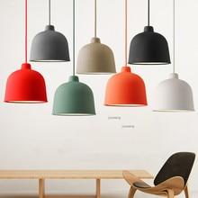 Скандинавский светодиодный подвесной светильник из смолы с цветным макароном, стильный светильник для столовой, креативный подвесной светильник, подвесной светильник