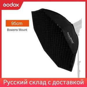 "Image 1 - Godox Pro 95 centimetri 37 ""Octagon Griglia A Nido Dape Softbox Riflettore Softbox con Bowens Mount per Studio Strobe Flash Light"