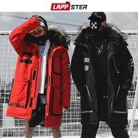 LAPPSTER Streetwear Winter Parkas Men 2020 Mens Japanese Thick Long Coat Windbreaker Hip Hop Fashion Warm Hooded Jackets Coats