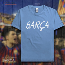 Barcelona footballer men tshirt 100% cotton fitness The fans short t-shirts gyms streetwear clothes Casual summer tees new 07
