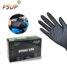 FSUP – gants de travail jetables universels en Nitrile, 100 pièces, pour cuisine, nettoyage, maison, jardin, tatouage, beauté