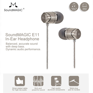 Image 2 - חדש SoundMAGIC E11 באוזן אוזניות ללא מיקרופון כבד בס HIFI מוסיקה אוזניות עבור ipod mp3 נגן