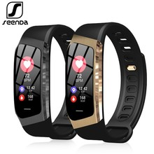 SeenDa E18 Smart Watch Sports Men Wristwatch Fitness Tracker Smart Watch  For Android And IOS Phone Bluetooth Women Smart Watch