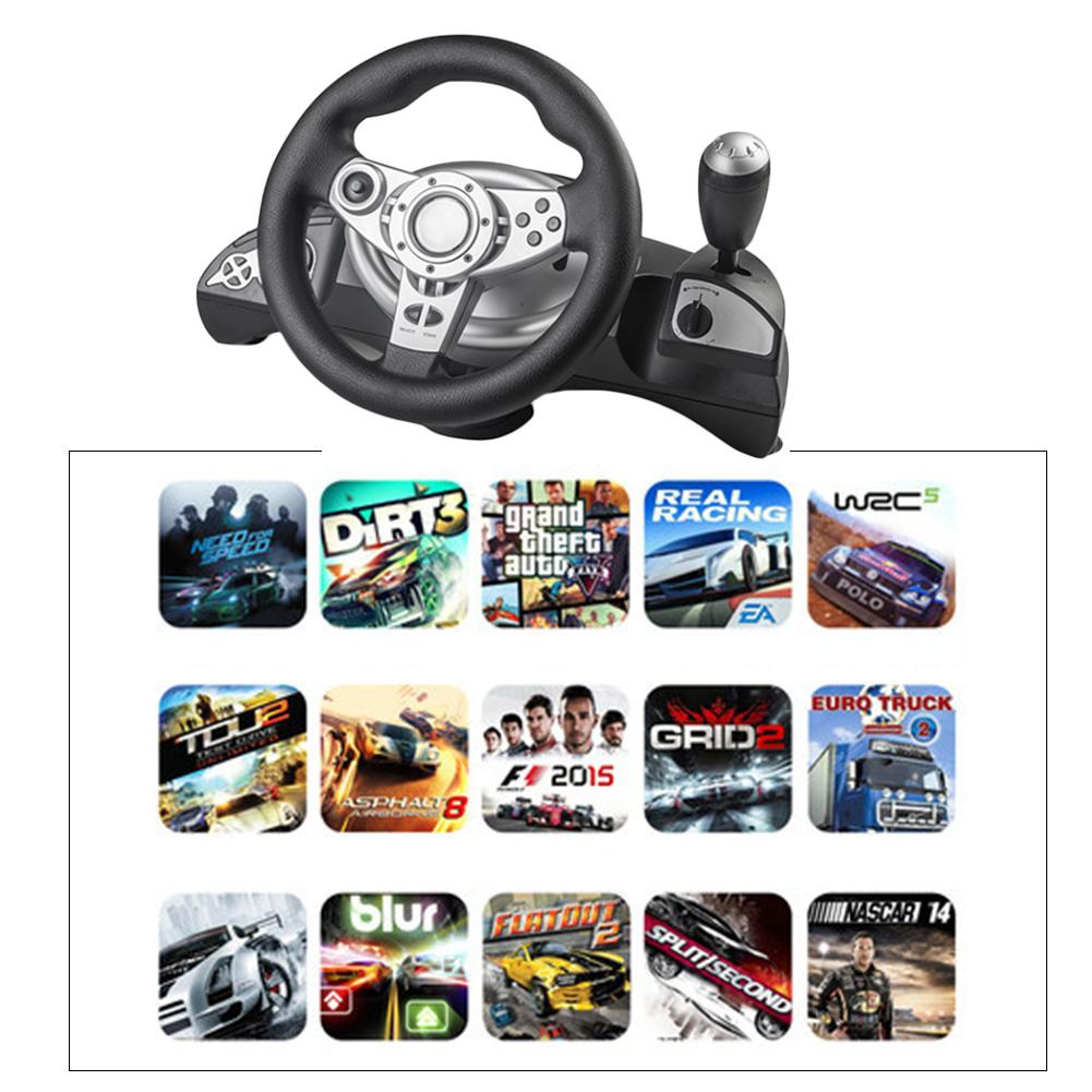 For PS4/PS3/PS2/PC D-INPUT/X-INPUT PC Computer Vibration Game Console Steering Wheel Racing For PS3/PS4/Direct-X/X-input /Steam image