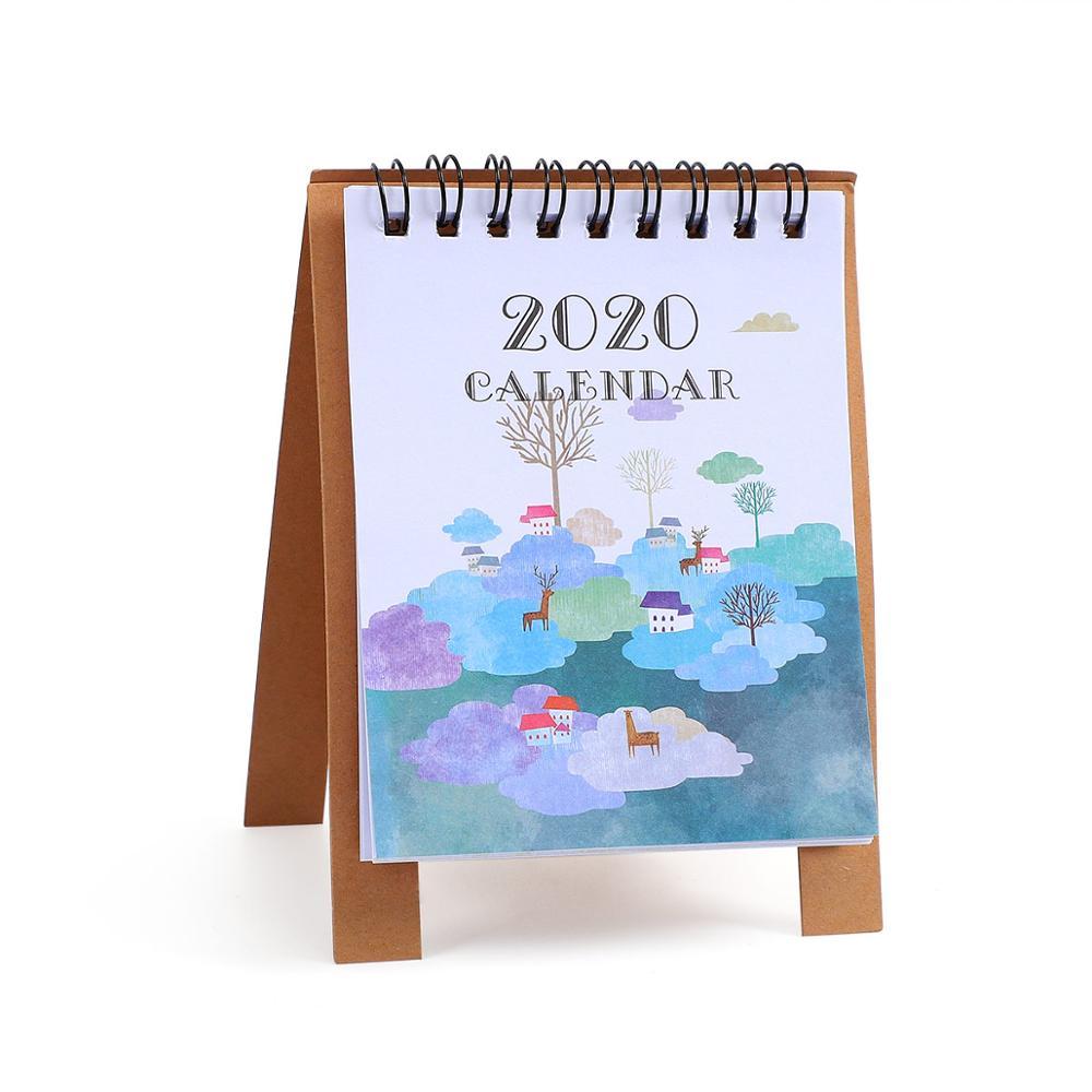 JIANWU милые Мультяшные животные настольный мини-календарь, школьный офис, кавайный планировщик, Настольный календарь - Цвет: shenghuozaiyunduan