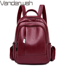 Yeni klasik kadınlar sırt çantası yüksek kaliteli deri sırt çantaları genç kızlar için okul çantaları sırt çantası Mochila Feminina kese Dos Femme