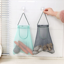 1PC borsa da cucina creativa per frutta e verdura in rete può appendere il sacchetto di immagazzinaggio del sacchetto di smistamento della cipolla dell'aglio dello zenzero multiuso