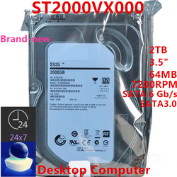 New HDD For Seagate Brand SV35 2TB 3.5