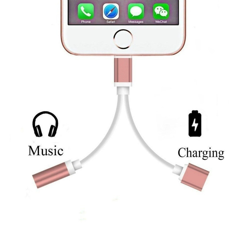 2020 Adapter Cables For Apple Audio Charging Connector for iphone X 8 7 Plus XR 11 pro xs max to 3.5mm Headphone Adapter AUX