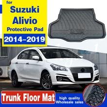 Коврик для багажника автомобиля Suzuki Ciaz / Alivio Sedan 2014-2019, коврик для груза, напольный коврик, грязевой протектор, водонепроницаемый коврик