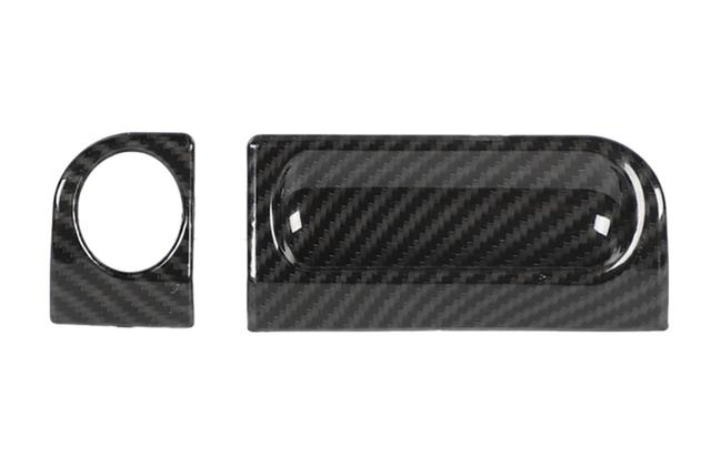 for Jeep Wrangler JK 2007-2010 Armrest Box Switch Cover Trim On/Off Decoration Sticker Decal ABS Carbon Fiber Inter Accessories