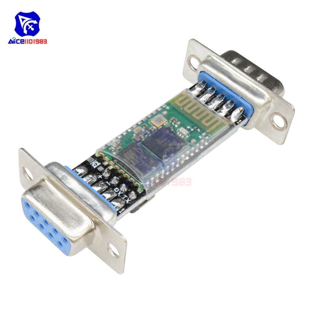 Diymore rs232 a HC-06 bluetooth v2.0 conversor módulo escravo porta serial db9 macho fêmea adaptador interface para arduino