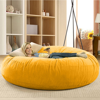 Living room removable washable large microsuede bean bag cover furniture fat girls can be seat sofa bed cover Bean Bag Sofas