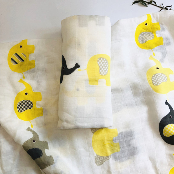 2020 Muslin blankets baby muslin blanket swaddle bamboo cotton Newborn Baby Bath Towel Swaddle Blankets MultiFunctions Baby Wrap | Happy Baby Mama