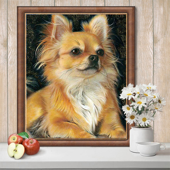 HUACAN 5D Diamond Painting Dog Animal Handcraft Art Kits Home Decoration Embroidery Full Drill Square