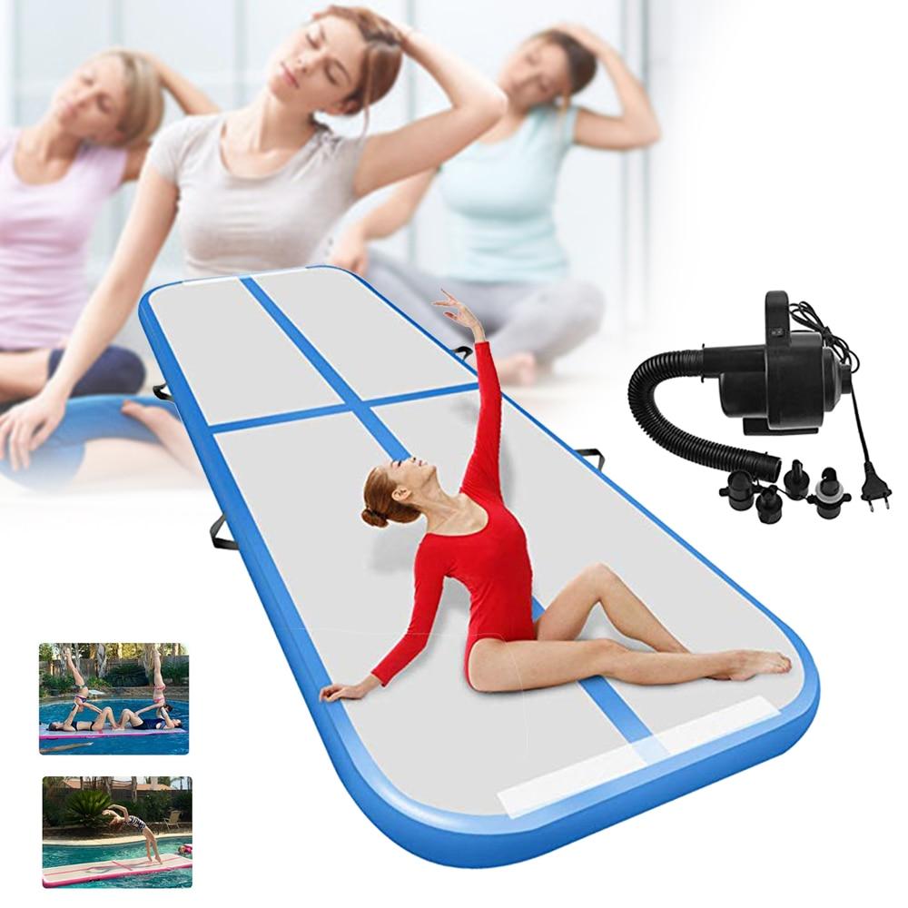 3/4/5M Inflatable Air Track Artistic Gymnastics Tumbles AirTrack Olympics Beginner Training Floor Mat For School Gym & Home Yard