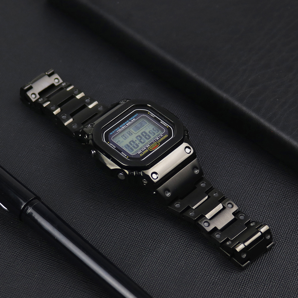 Watch Strap Bezel For Casio G-shock <font><b>DW</b></font>-<font><b>5600</b></font> GW-<font><b>5600</b></font> DW5000/5035 316L Stainless Steels Watch Case Bezel For Casio GW-M5610 <font><b>Band</b></font> image
