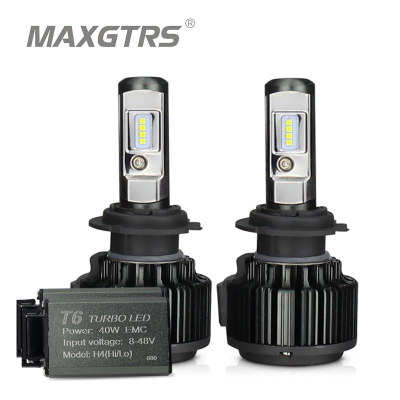 H13 LED Headlight Bulbs Hi-Lo Beam Headlamp Driving Lamp Car Light White 6000K