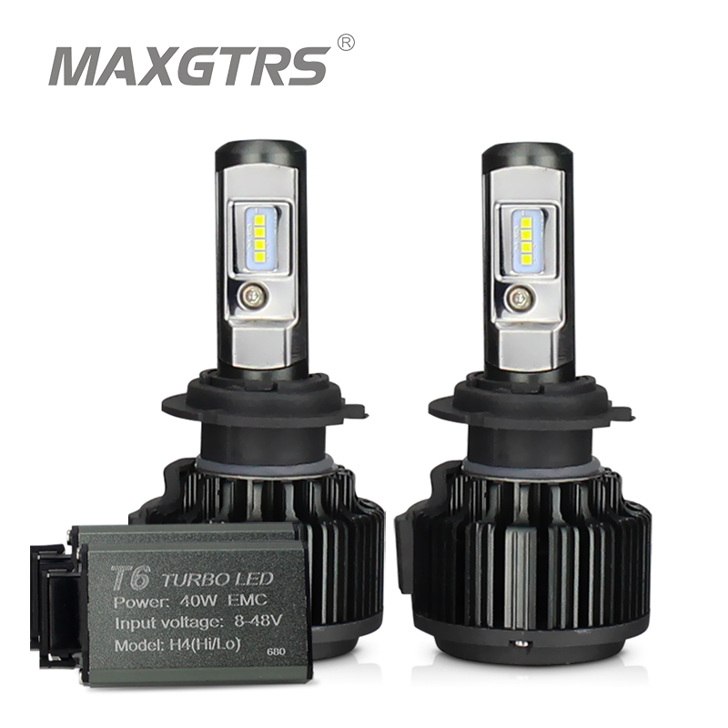 MAXGTRS H4 Hi/lo H7 H8 H11 9006 Car LED Headlights 9005 HB3 HB4 H1 H13 880 881 High Power Canbus White 6000K Bulbs Replace Lamp