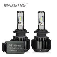 مصابيح سيارة أمامية MAXGTRS H4 Hi/lo H7 H8 H11 9006 LED 9005 HB3 HB4 H1 H13 880 881 عالية الطاقة مصابيح Canbus بيضاء 6000K استبدال مصباح