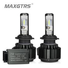 MAXGTRS H4 Hi/lo H7 H8 H11 9006 araba LED farlar 9005 HB3 HB4 H1 H13 880 881 yüksek güç Canbus beyaz 6000K ampuller lamba yerine