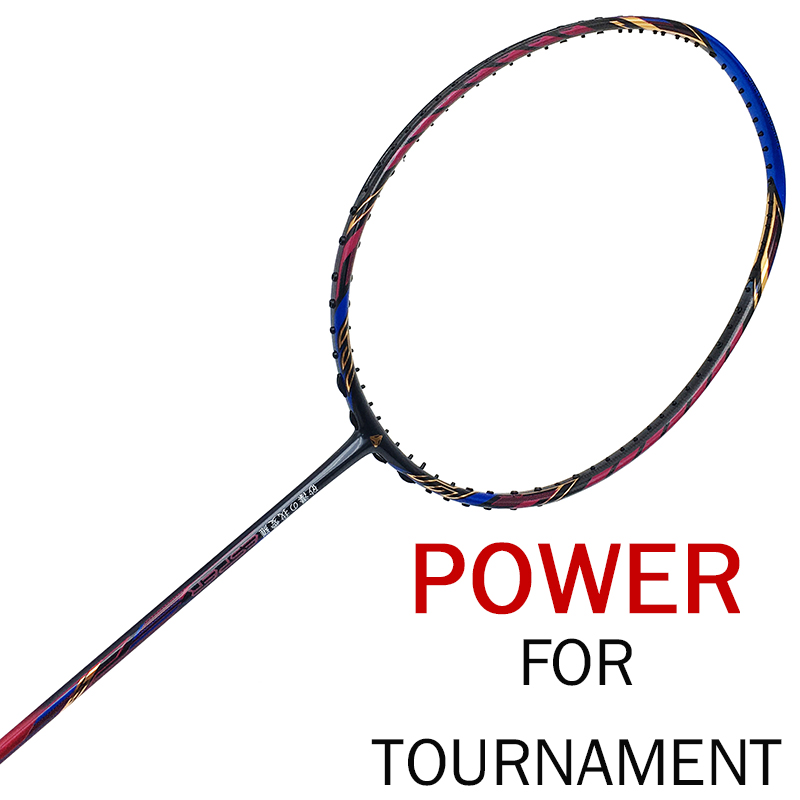 ESPER Badminton Racket 4U High Quality Graphit Carbon Fiber Racquet Lightweight 35LBS With String Overgrip Professional Adult in Badminton Rackets from Sports Entertainment