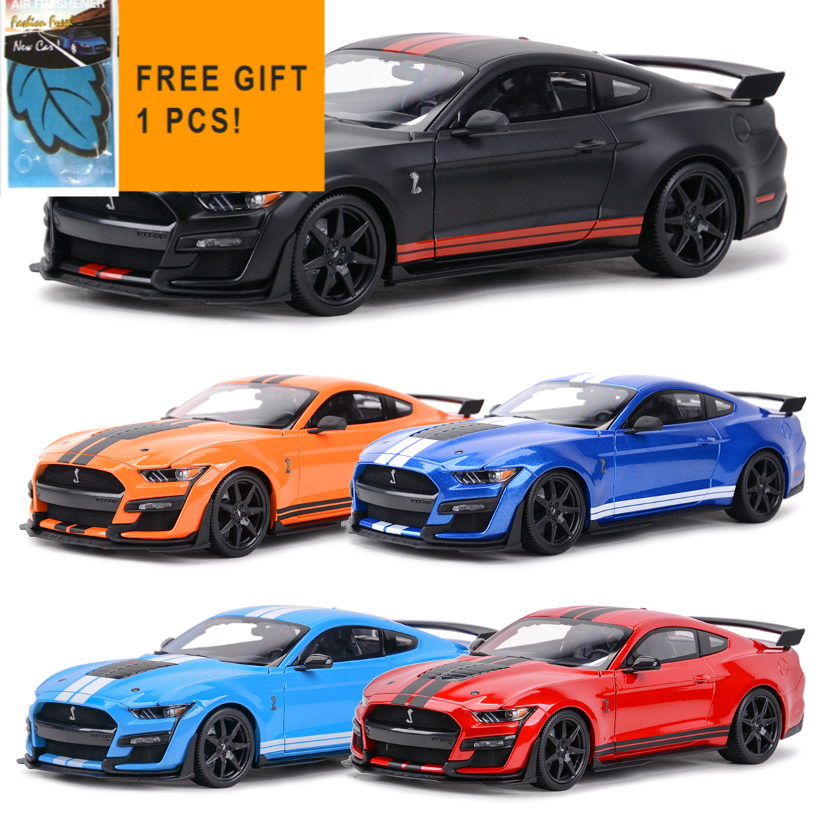Maisto 1:18 2020 Mustang Shelby GT500 Ford Sports Car Static Die Cast Vehicles Collectible Model Car Toys