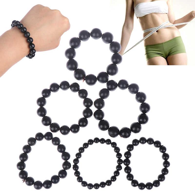 Naturalne czarnego jadeitu Bianshi bransoletka czarnego jadeitu kamień narzędzie igłowe dla pielęgnacja ciała wykonane z masażu dla kobiet mężczyzn