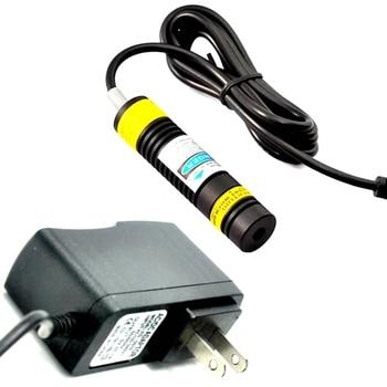Focusable 405nm 300mW 16x68mm DOT Blue/Violet Laser Module Diode w/ 5V Adapter 405nm 10mw violet purple blue line laser diode module dc3v 5v lazers w focusable head