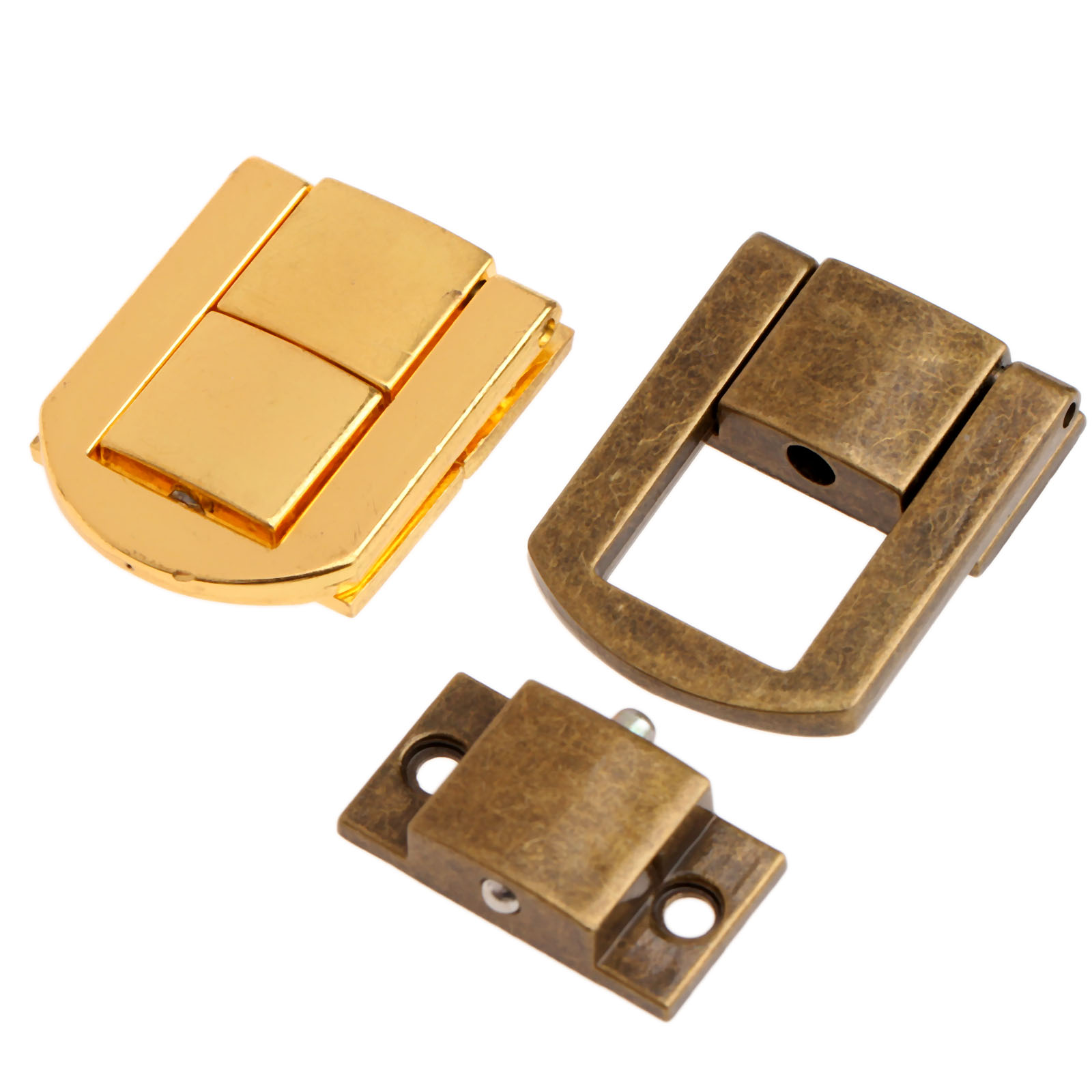 30mm 5pcs Antique Box Hasps Metal Lock Catch Latches For Jewelry Chest Box Suitcase Buckle Clasp Vintage Hardware Bronze/Gold