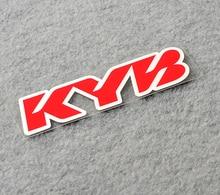 Autocollant de carrosserie de fenêtre arrière de voiture en vinyle, adhésif de tuyau Exhuast pour Suspension KYB de moto