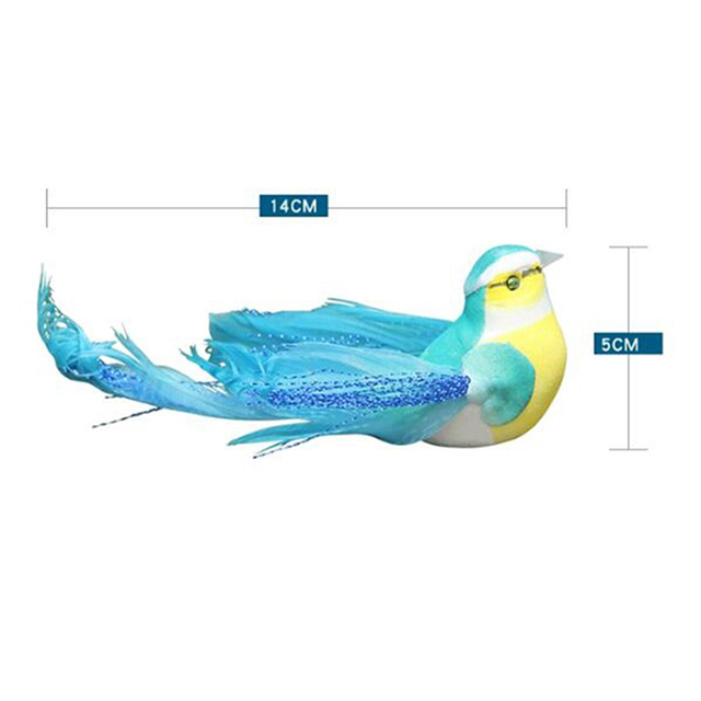 Lovely Artificial Bird Foam Feather Colorful Mini Craft Birds DIY Home Emulation Decoration Bird Model 6