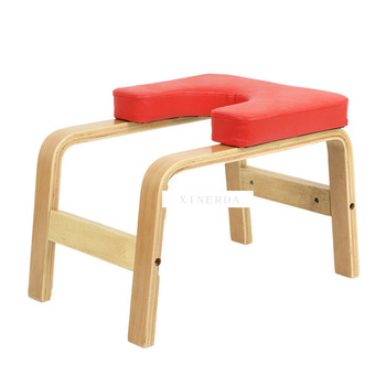Simple Wooden Yoga Inverted Handstand Bench Yoga Assistance Auxiliary Training Handstand Chair Home Household Mini Fitness Bench