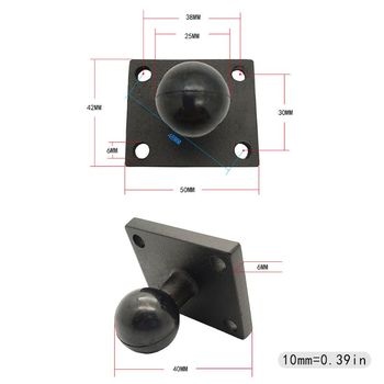 Aluminum Square Mount Base with Ball Head for Zumo Motorcycle Bicycle