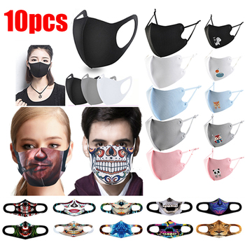 10pcs Mascarilla Face Mask Reusable Masque Halloween Mask Mondkapjes  Child Mask Cloth
