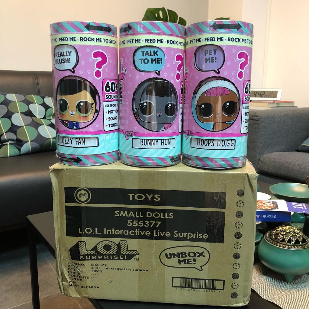Original Lols Surprise Animal Doll Electric Pet Toys For Children Cartoon Pet Electric Lols Surprise Fashion Animal Dolls L.O.L.